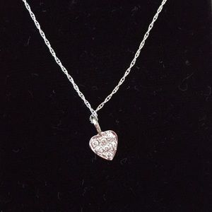 Jewelry - 14k white gold and diamond necklace.